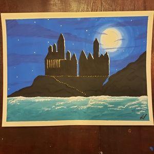 Harry Potter Hogwarts Castle painting